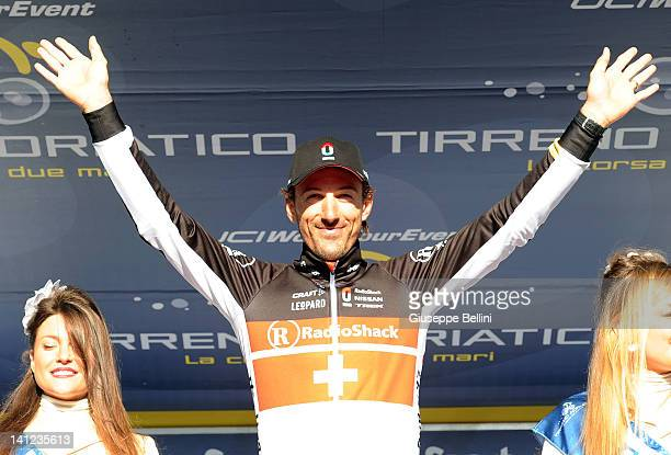 Fabian Cancellara of Radioshack Nissan Trek Team winner of stage seven of the 2012 Tirreno-Adriatico on March 13, 2012 in San Benedetto del Tronto,...