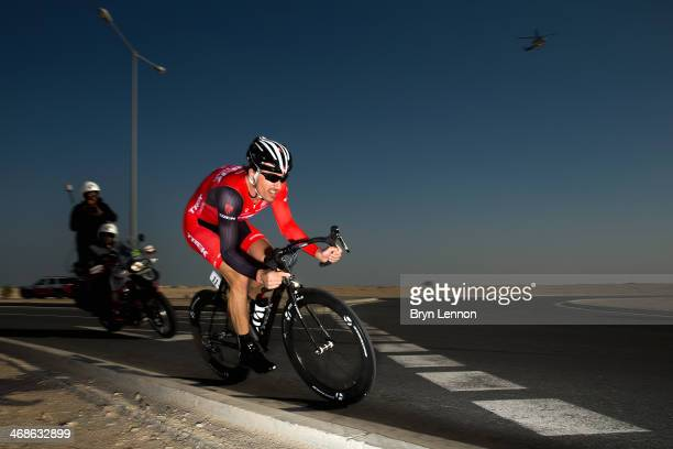 Fabian Cancellara of Switzerland and the Trek Factory Racing Team in action during stage three of the Tour of Qatar, a 10.9km individual time trial...
