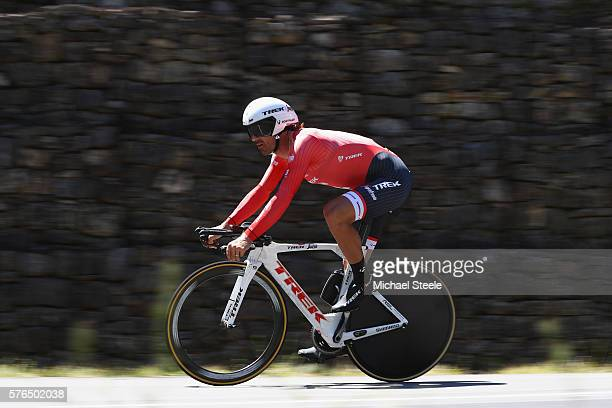 Fabian Cancellara of Switzerland and Trek-Segafredo during the 37km Individual Time Trial stage thirteen of Le Tour de France from Bourg-Saint-Andeol...