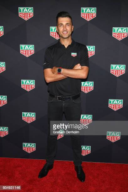 Fabian Coulthard arrives at the TAG Heuer Australia Grand Prix Party at Luminare on March 20 2018 in Melbourne Australia