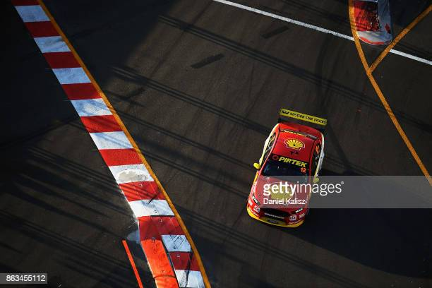 Fabian Coulthard drives the Shell VPower Racing Team Ford Falcon FGX during practice 3 for the Gold Coast 600 which is part of the Supercars...