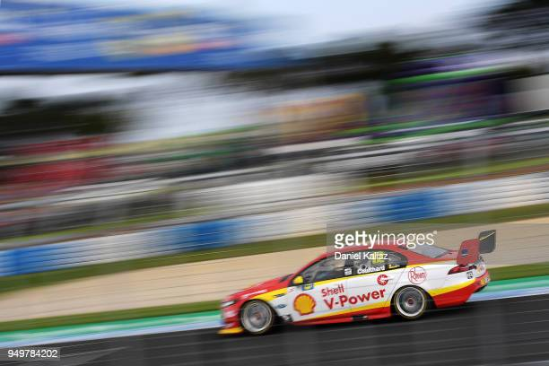 Fabian Coulthard drives the Shell VPower Racing Team Ford Falcon FGX during the Supercars Phillip Island 500 at Phillip Island Grand Prix Circuit on...