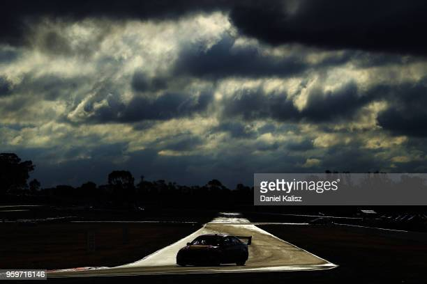 Fabian Coulthard drives the Shell VPower Racing Team Ford Falcon FGX during practice for the Supercars Winton SuperSprint on May 18 2018 in Melbourne...
