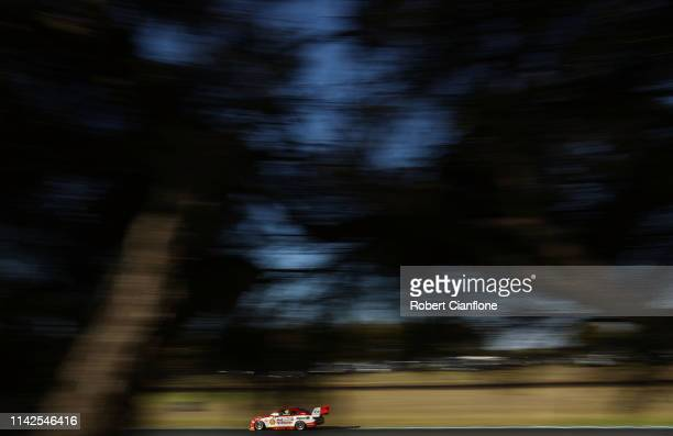Fabian Coulthard drives the Shell V-Power Racing Team Ford Mustang during race ten at the Phillip Island 500 as part of the Supercars Championship...