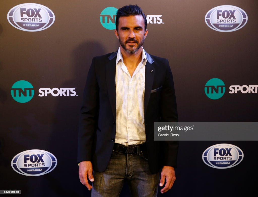 Fabian Cubero of Velez Sarsfield poses for teh press during AFA's Superliga Official Launch at Hilton Hotel on August 15, 2017 in Buenos Aires, Argentina.