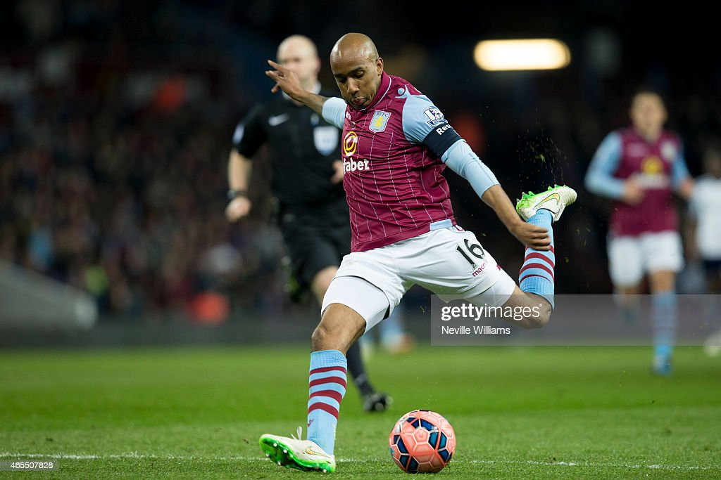 Fabian Delph of Aston Villa scores his goal for Aston Villa during the FA Cup FA Cup Quarter Final match between Aston Villa and West Bromwich Albion at Villa Park on March 07, 2015 in Birmingham, England.