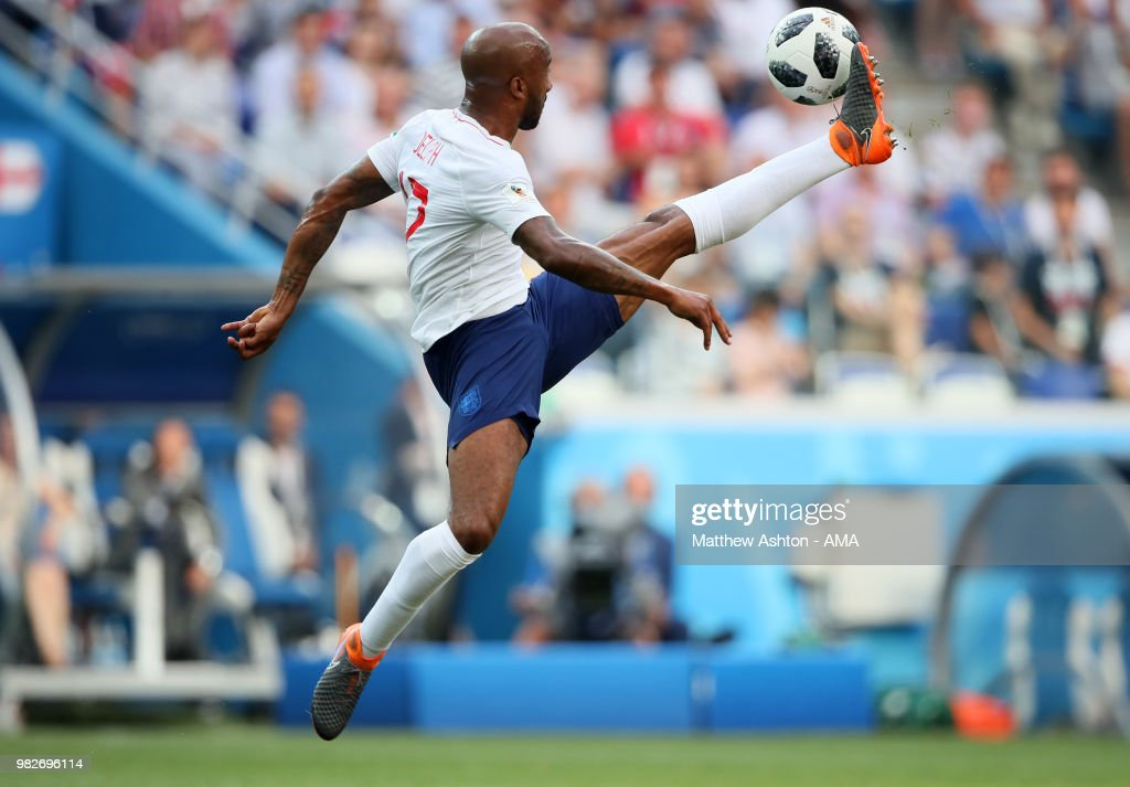 Fabian Delph of England in action during the 2018 FIFA World Cup Russia group G match between England and Panama at Nizhny Novgorod Stadium on June 24, 2018 in Nizhny Novgorod, Russia.