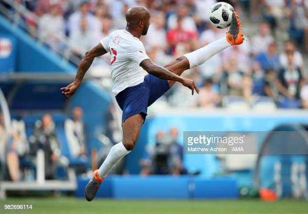 Fabian Delph of England in action during the 2018 FIFA World Cup Russia group G match between England and Panama at Nizhny Novgorod Stadium on June...