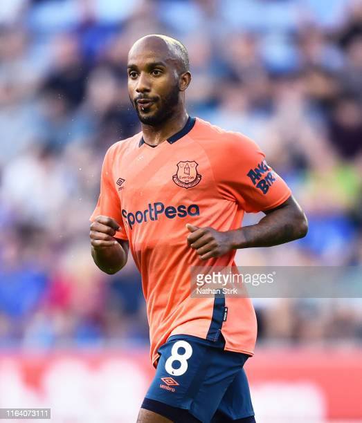Fabian Delph of Everton looks on during the PreSeason Friendly match between Wigan Athletic and Everton at DW Stadium on July 24 2019 in Wigan England