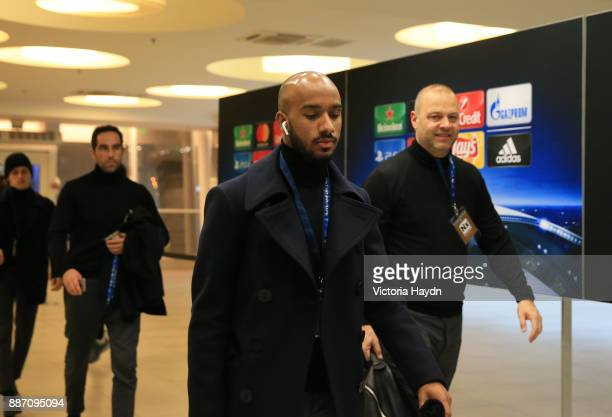 Fabian Delph of Manchester City arrives at the stadium prior to the UEFA Champions League group F match between Shakhtar Donetsk and Manchester City...