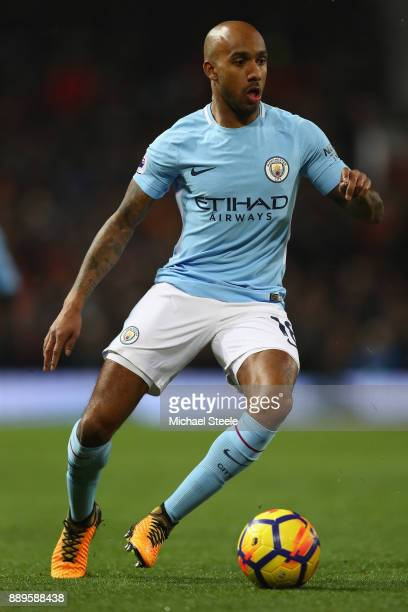 Fabian Delph of Manchester City during the Premier League match between Manchester United and Manchester City at Old Trafford on December 10 2017 in...