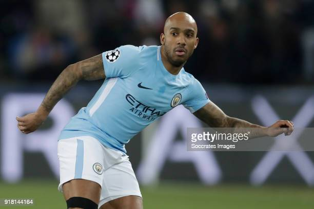 Fabian Delph of Manchester City during the UEFA Champions League match between Fc Basel v Manchester City at the St JakobPark on February 13 2018 in...
