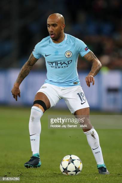 Fabian Delph of Manchester City during the UEFA Champions League Round of 16 First Leg match between FC Basel and Manchester City at St JakobPark on...