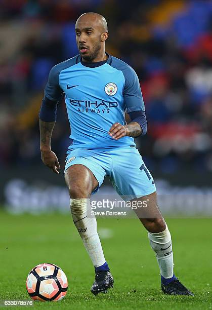 Fabian Delph of Manchester City in action during the Emirates FA Cup Fourth Round match between Crystal Palace and Manchester City at Selhurst Park...