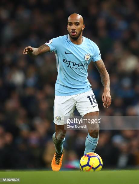 Fabian Delph of Manchester City in action during the Premier League match between Manchester City and West Ham United at Etihad Stadium on December 3...