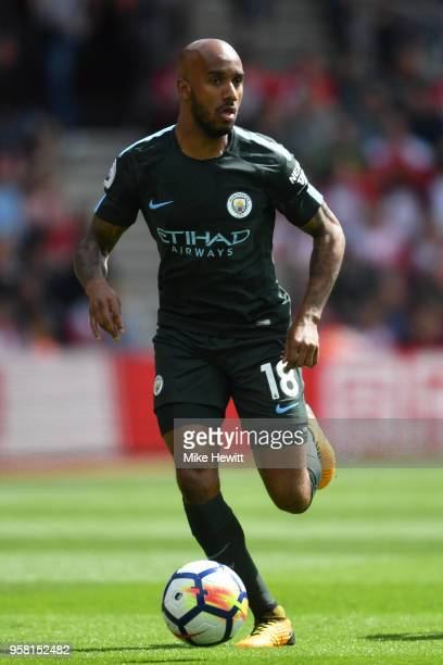 Fabian Delph of Manchester City in action during the Premier League match between Southampton and Manchester City at St Mary's Stadium on May 13 2018...