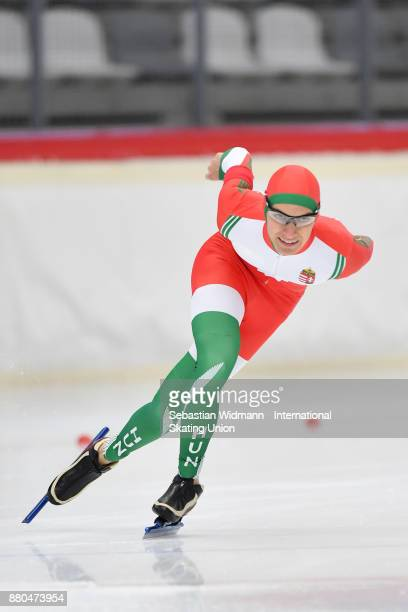Fabian Dieterle of Hungary performs during the Men 1500 Meter at the ISU Neo Senior World Cup Speed Skating at Max Aicher Arena on November 26 2017...