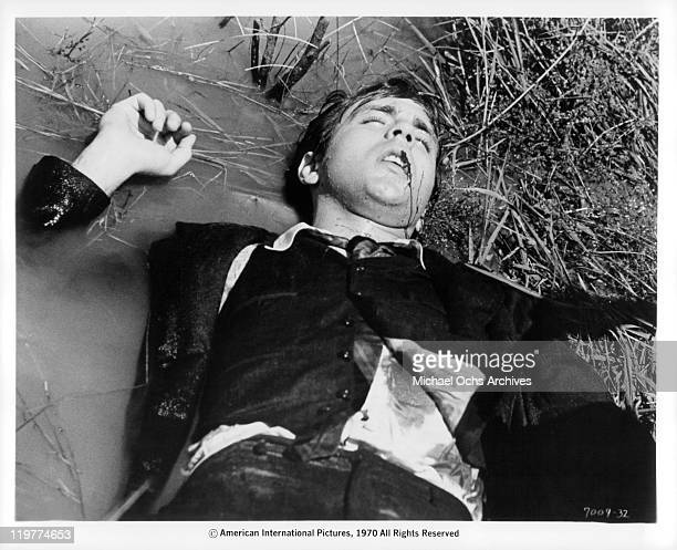 Fabian Forte is gunned down in a hail of bullets in a scene from the film 'A Bullet For Pretty Boy' 1970