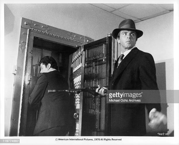 Fabian Forte robs bank in a scene from the film 'A Bullet For Pretty Boy' 1970