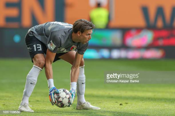 Fabian Giefer of Augsburg in action during the Bundesliga match between FC Augsburg and SV Werder Bremen at WWKArena on September 22 2018 in Augsburg...