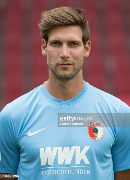 Fabian Giefer of FC Augsburg poses during the team presentation at WWK Arena on July 17, 2017 in Augsburg, Germany.