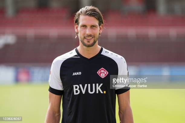 Fabian Giefer of FC Würzburger Kickers poses during the team presentation on September 3, 2020 in Wuerzburg, Germany.