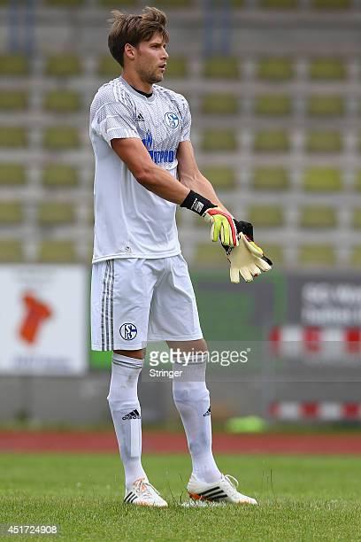 Fabian Giefer of Schalke looks on during the friendly match between TuS Hordel and FC Schalke 04 at Lohrheidestadion on July 5 2014 in Bochum Germany