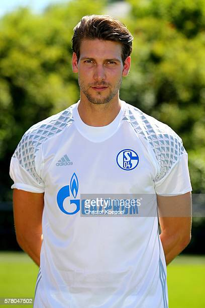Fabian Giefer poses during the team presentation of FC Schalke at Veltins Arena on July 20, 2016 in Gelsenkirchen, Germany.