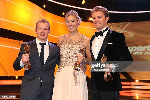 Fabian Hambuechen Olympic gold medalist champion Tennis Champion Angelique Kerber and Nico Rosberg Formula One F1 driver and World Champion 2016 with...