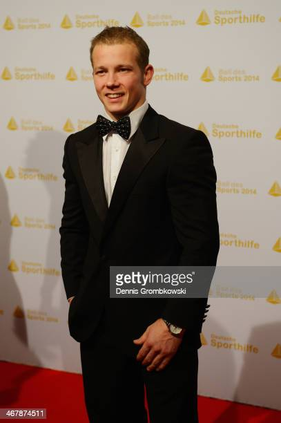 Fabian Hambuechen poses on his arrival at the Ball des Sports 2014 at RheinMainHalle on February 8 2014 in Wiesbaden Germany