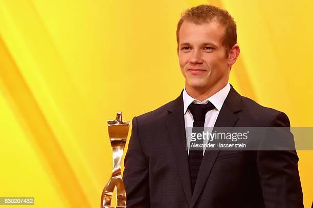 Fabian Hambuechen wins the Sportler des Jahres 2016 award during the Sportler des Jahres 2016 gala at Kurhaus BadenBaden on December 18 2016 in...