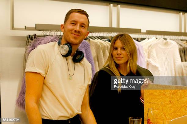 Fabian Hart and Maja Wyh attend the Mango Committed Collection PreLaunch at Mango Store on October 12 2017 in Hamburg Germany