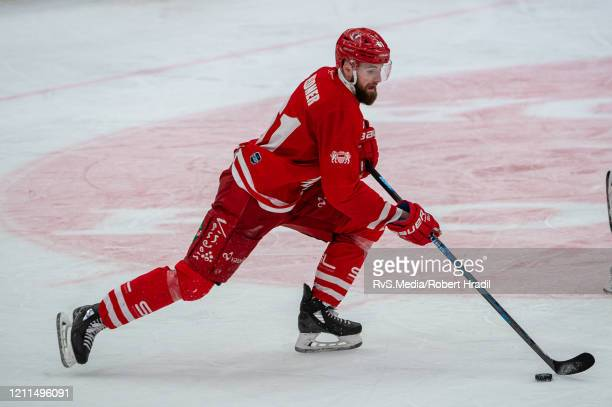 Fabian Heldner of Lausanne HC in action during the Swiss National League game between Lausanne HC and SC Bern at Vaudoise Arena on February 29, 2020...