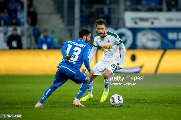 Fabian Johnson of Borussia Moenchengladbach in action during the Bundesliga match between TSG 1899 Hoffenheim and Borussia Moenchengladbach at Wirsol...