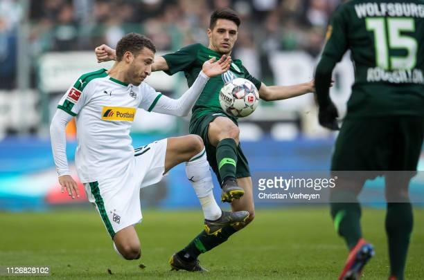 Fabian Johnson of Borussia Moenchengladbach in action during the Bundesliga match between Borussia Moenchengladbach and VfL Wolfsburg at BorussiaPark...