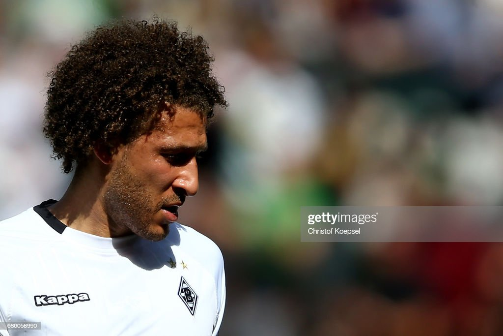 Fabian Johnson of Moenchengladbach is seen during the Bundesliga match between Borussia Moenchengladbach and SV Darmstadt 98 at Borussia-Park on May 20, 2017 in Moenchengladbach, Germany.