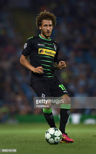 Fabian Johnson of VfL Borussia Moenchengladbach of Manchester City in action during the UEFA Champions League match between Manchester City FC and...
