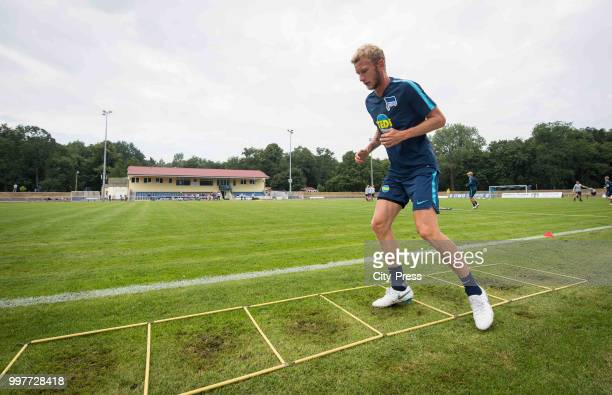 Fabian Lustenberger during the Hertha BSC training camp on july 13 2018 in Neuruppin Germany