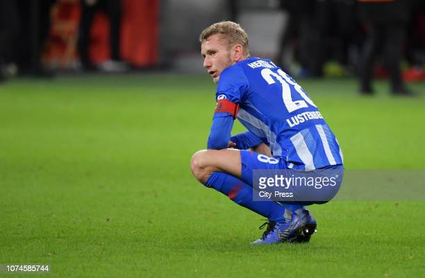 Fabian Lustenberger of Hertha BSC after the Bundesliga match between Bayer 04 Leverkusen and Hertha BSC at the BayArena on december 22 2018 in...