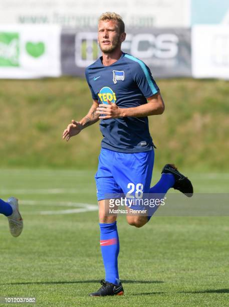 Fabian Lustenberger of Hertha BSC before the game between FC Liefering against Hertha BSC at the Athletic Area Schladming on august 6 2018 in...