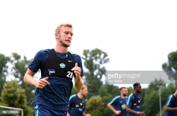 Fabian Lustenberger of Hertha BSC before the game between MSV Neuruppin against Hertha BSC at the VolksparkStadion on july 12 2018 in Neuruppin...