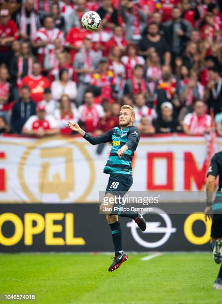 Fabian Lustenberger of Hertha BSC during the Bundesliga match between FSV Mainz 05 and Hertha BSC at OpelArena on October 6 2018 in Mainz Germany
