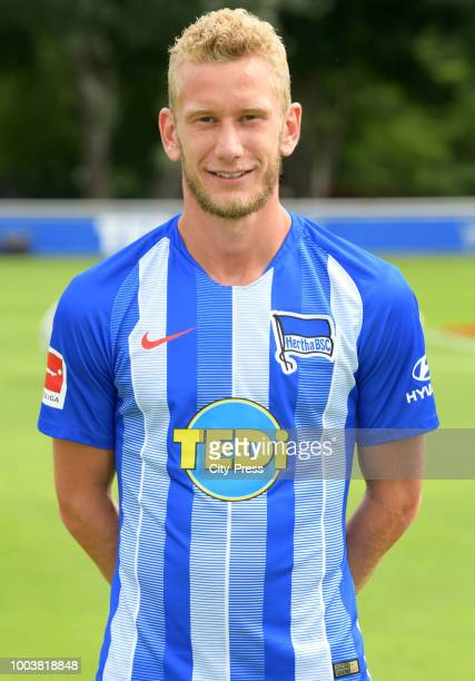 Fabian Lustenberger of Hertha BSC during the DFL media day at the Schenkendorfplatz on july 22 2018 in Berlin Germany