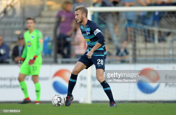 Fabian Lustenberger of Hertha BSC during the friendly match between Hertha BSC and the SV Babelsberg 03 at the KarlLiebknechtStadion on october 11...