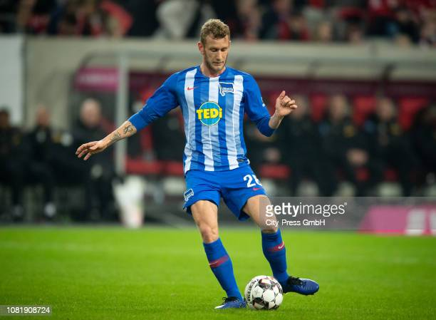 Fabian Lustenberger of Hertha BSC during the Telekom Cup match between Borussia Moenchengladbach and Hertha BSC at the Merkur SpielArena on January...