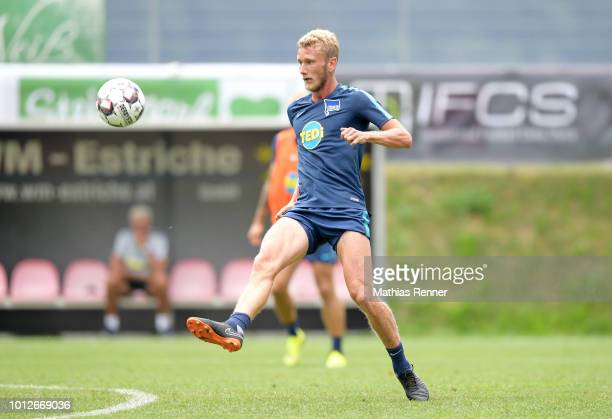 Fabian Lustenberger of Hertha BSC during the training camp at the Athletic Area Schladming on august 7 2018 in Schladming Austria