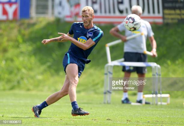 Fabian Lustenberger of Hertha BSC during the training camp on august 6 2018 in Schladming Austria