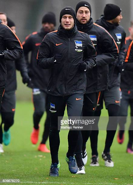 Fabian Lustenberger of Hertha BSC during the training on november 30 2016 in Berlin Germany