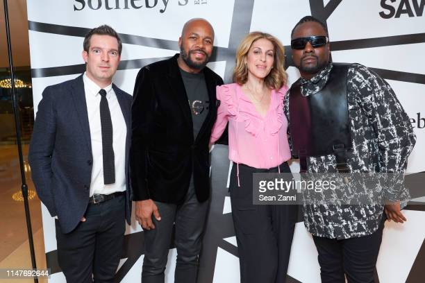 Fabian Moreau DJ DNice Julie Greenwald and Wale attend the National Sawdust 2019 Spring Gala at Sotheby's on May 07 2019 in New York City
