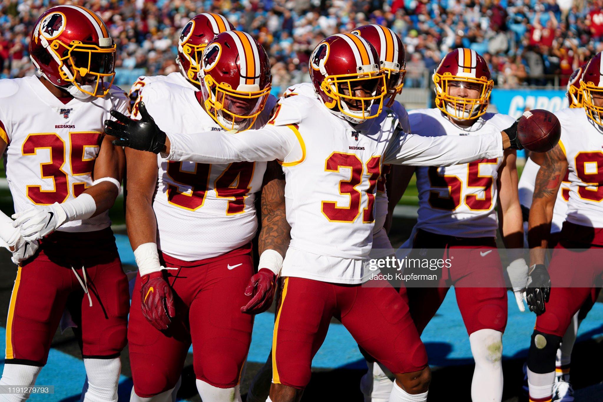 Washington Redskins vCarolina Panthers : Foto jornalística